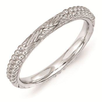 Picture of Sterling Silver 2.50 mm Stackable Patterned Ring