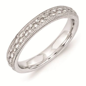 Picture of Sterling Silver 3.50 mm Stackable Rice Bead Ring