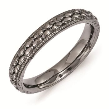 Picture of Sterling Silver Ruthenium Plated Rice Bead Ring