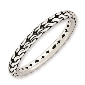 Picture of Sterling Silver Stackable Antiqued Ring