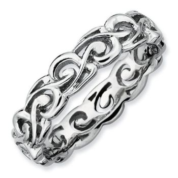 Picture of Sterling Silver Stackable Patterned Ring