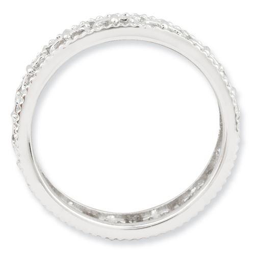 Picture of Sterling Silver Stackable Fleur De Lis Ring