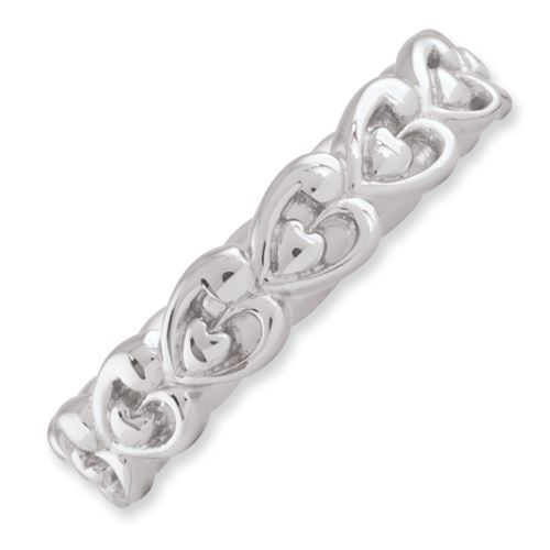 Picture of Sterling Silver Stackable Heart Ring