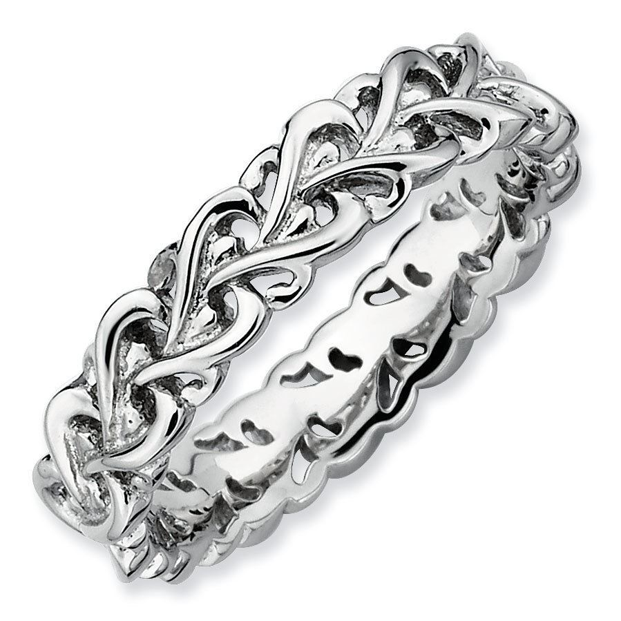 Picture of Sterling Silver Stackable Intertwined Heart Ring