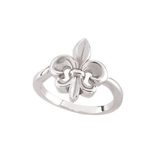 Picture of Sterling Silver Fleur-de-lis Ring