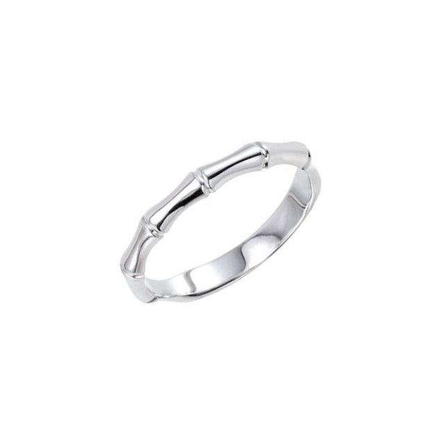 Picture of Sterling Silver Stackable Bamboo Patterned Ring