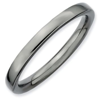 Picture of Sterling Silver Ruthenium Plated Stackable Ring