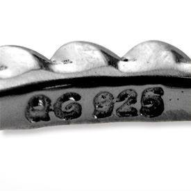 Picture of Sterling Silver Ruthenium Plated Stackable Bead Ring