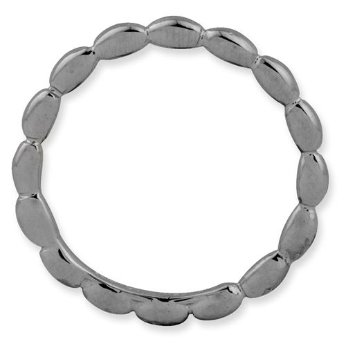 Picture of Sterling Silver Ruthenium Plated Stackable Rice Ring
