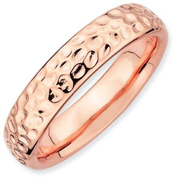 Picture of Sterling Silver Stackable Rose Gold-Plated Ring