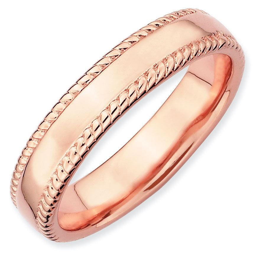 Picture of Sterling Silver Stackable Rose Gold-Plated Band