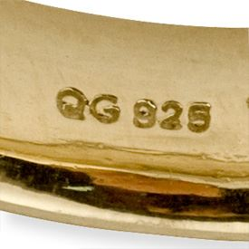 Picture of Sterling Silver Stackable Yellow Gold-Plated Ring