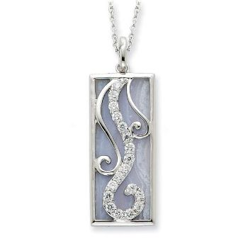Picture of Living Water, Silver Blue Lace Agate Pendant