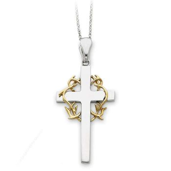 Picture of No Greater Love Cross Silver Pendant