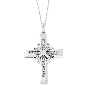 Picture of Steadfast Love, Silver Cross CZ Pendant