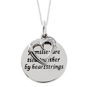 Picture of Families Are Tied Together Silver Pendant