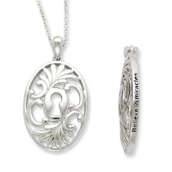 Picture of Believe In Miracles Silver Pendant