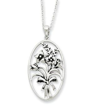 Picture of I Celebrate The Day You Were Born, Silver Pendant