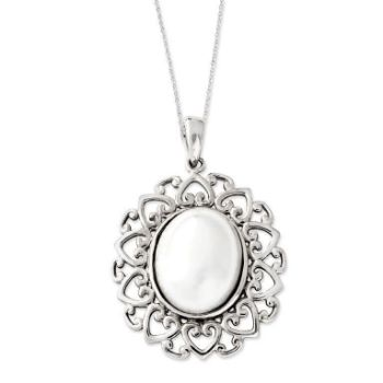 Picture of Pearl Of Contentment, Silver Pendant