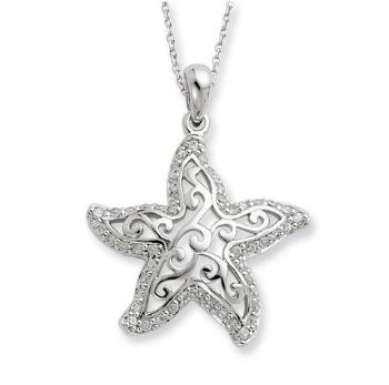 Picture of Make A Difference, Silver Star Fish Pendant