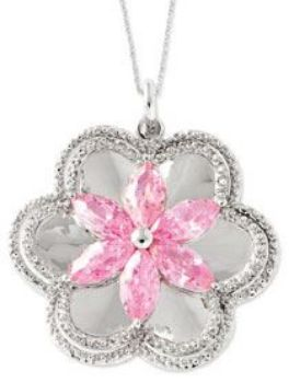 Picture of Pretty in Pink, Silver Pendant
