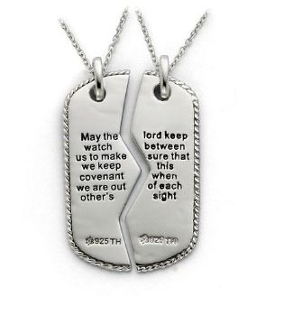 Picture of Silver Military Dog Tag For Two