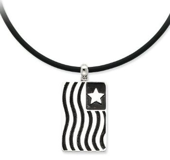 Picture of Waves Of Pride, Silver Flag Pendant