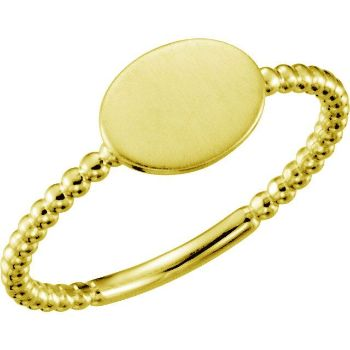 Picture of Posh Mommy Oval Beaded Ring