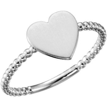 Picture of Posh Mommy Heart Beaded Ring