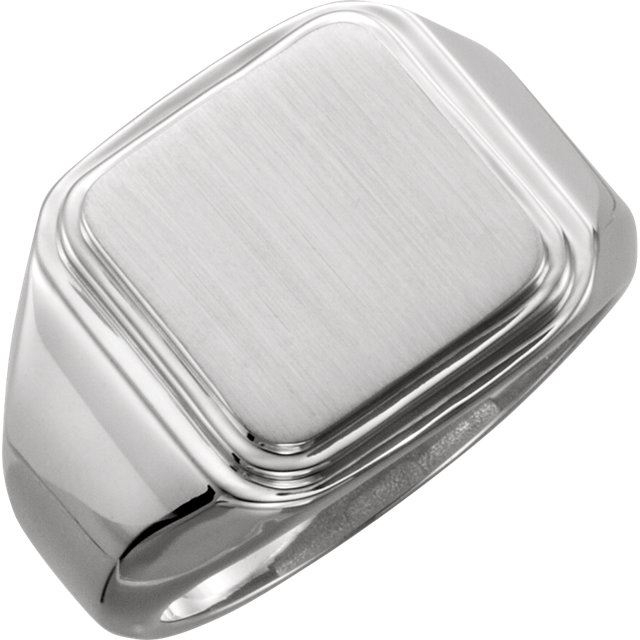 Picture of Posh Mommy Men's Square Signet Ring
