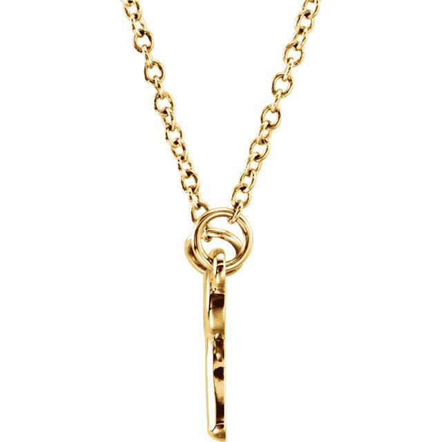 """Picture of 14K Gold Petite Knotted Bow 18"""" Necklace"""