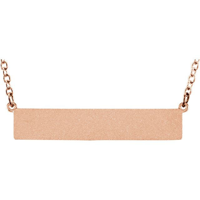 Picture of Be Posh Engravable Bar Necklace