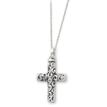 Picture of Silver Cross Remembrance Ash Holder