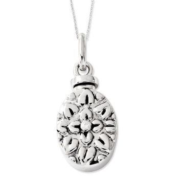 Picture of Silver CZ Antiqued Flower Ash Holder