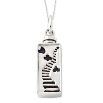 Picture of Silver Enameled Stairway to Heaven Ash Holder