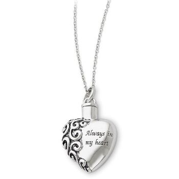 Picture of Silver Heart Remembrance Ash Holder