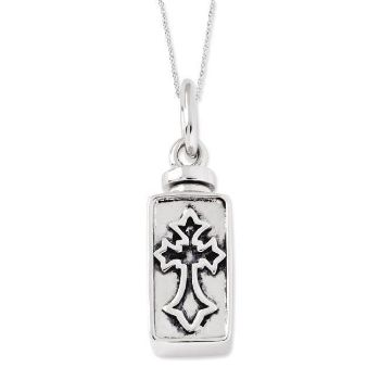 Picture of Silver Rectangle Box Cross Ash Holder
