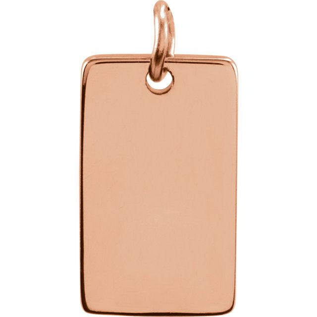 Picture of Be Posh 14K Gold Engravable Dog Tag Pendant