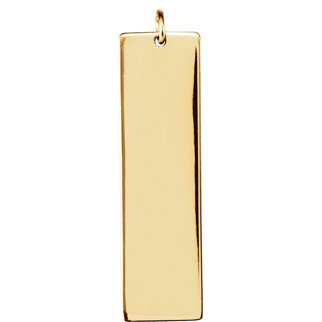 Picture of Be Posh 14K Gold Engravable Medium Tag Pendant