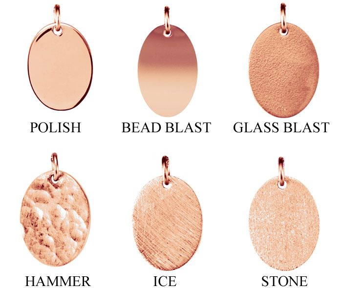 Picture of Be Posh 14K Gold Engravable Oval Pendant