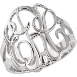 Picture for category Monogram Personalized Rings Silver or Gold