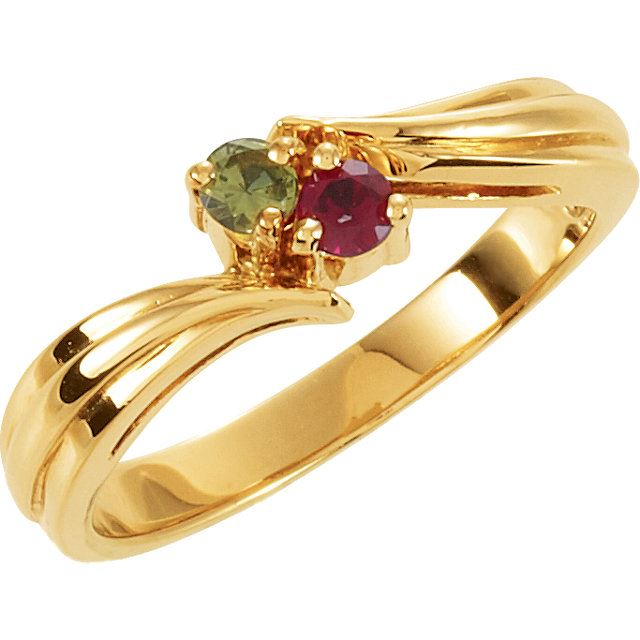 Picture of Gold 1 to 4 Round Stones Mother's Ring