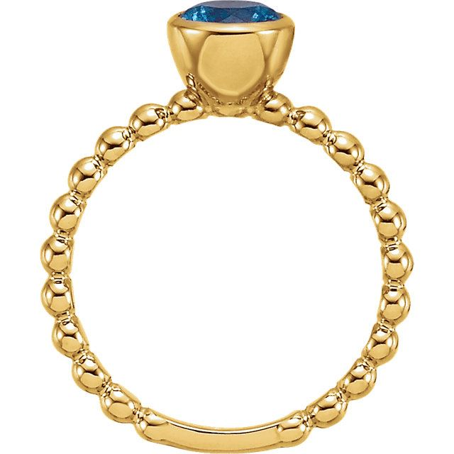 Picture of Gold Stackable Ring 1 Round Stone