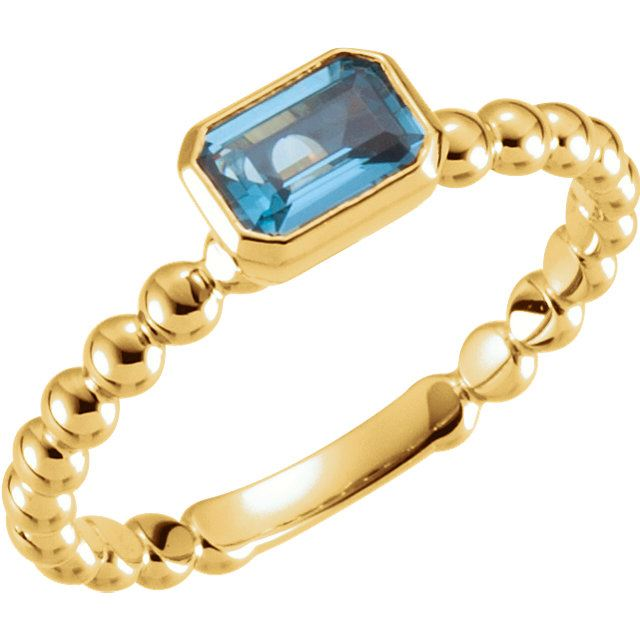 Picture of Gold Stackable Ring 1 Emerald-Cut Stone
