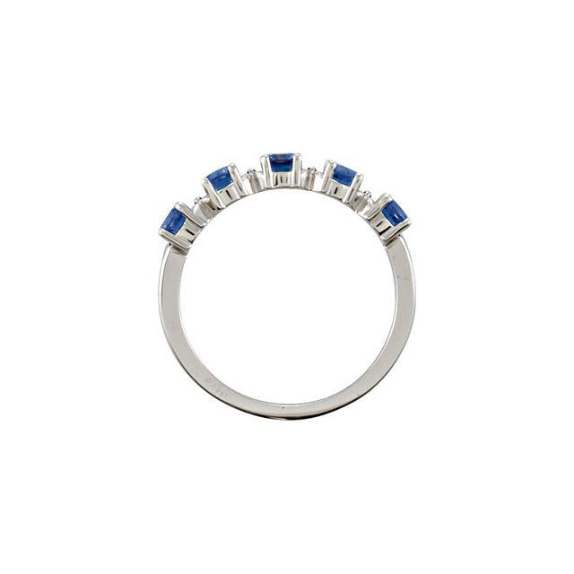 Picture of Silver 5 Round Stones Mother's Ring