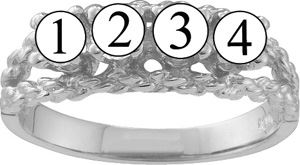 Picture of A. 1 to 6 Round GENUINE Stones Mother's Ring