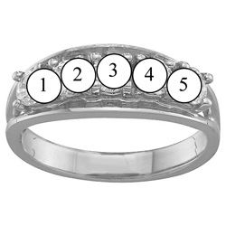 Picture of B. 2 to 6 Round GENUINE Stones Mother's Ring
