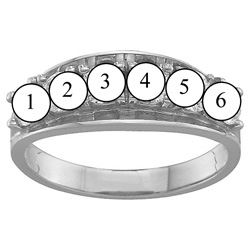 Picture of B. 2 to 6 Round SIMULATED Stones Mother's Ring