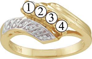 Picture of C. 2 to 7 Round GENUINE Stones Mother's Ring