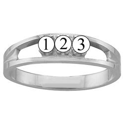 Picture of D. 1 to 6 Round SIMULATED Stones Mother's Ring